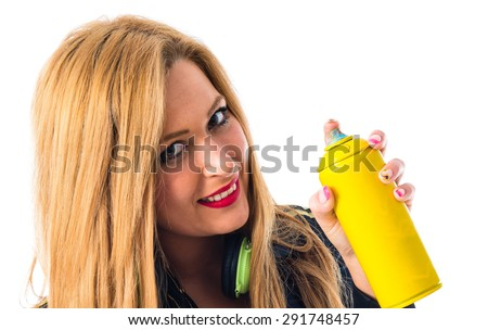 girl with a spray can