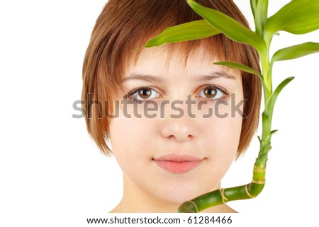 girl with bamboo