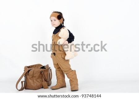 girl with brown bag