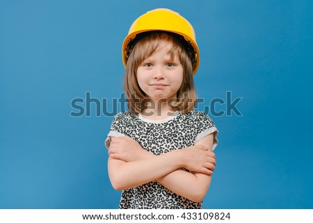 girl with construction tools - stock photo