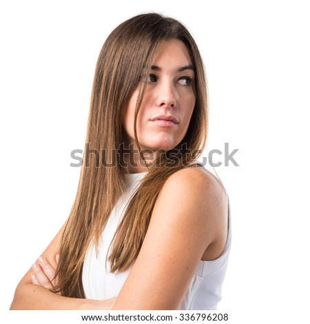 Girl with her arms crossed