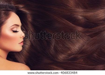 Girl with long hair - stock photo