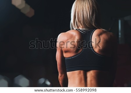 Girl with muscles
