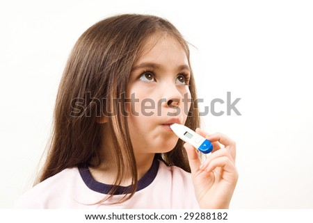 Girl with thermometer
