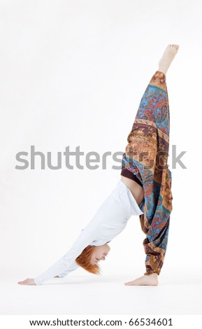 Girl yoga - stock photo