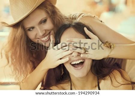 girlfriends - stock photo