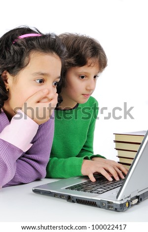 Girlfriends on laptop
