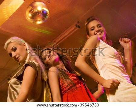 Girls dancing in the night club