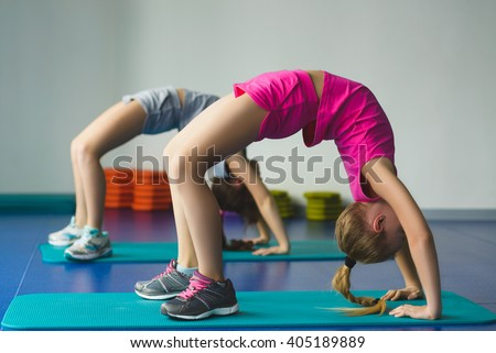 Doing exercises exercise starring: girls nude
