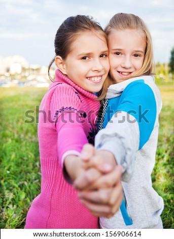 Girls friends - stock photo