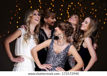 Girls have a new year party celebration