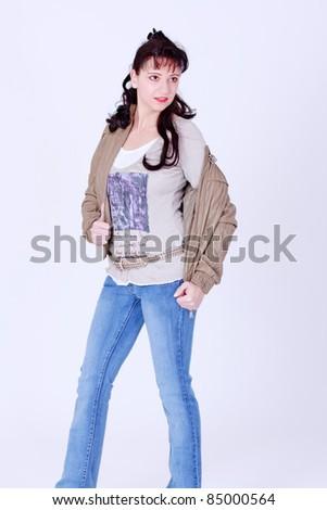 Girls in contemporary Italian fashion designer /Fashion Girl - stock photo