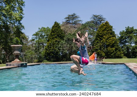 Young Girl Swimming Pool Underwater Young Stock Photo 178800371 Shutterstock