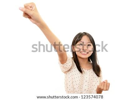Girls willing to pass exam - stock photo