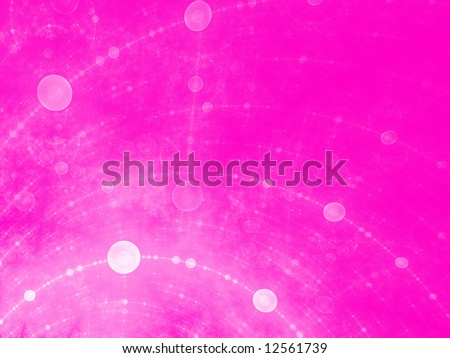 Girly Bubble Grid - stock photo