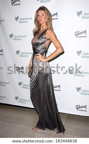Gisele Bundchen at The 2009 Rainforest Alliance Gala, American Museum of Natural History, New York City, NY May 6, 2009  - stock photo
