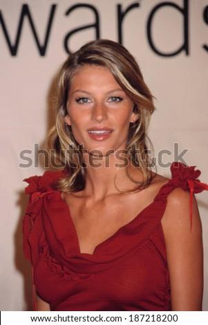 Gisele Bundchen at the VH1/Vogue Fashion Awards, NYC, 10/19/01 - stock photo