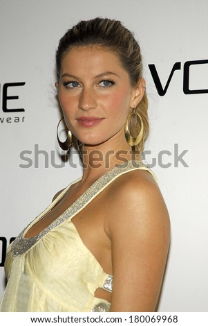 Gisele Bundchen at VOGUE Spring/Summer 2006 Ad Campaign Preview Party, Eyebeam Atelier, New York, NY, March 22, 2006 - stock photo