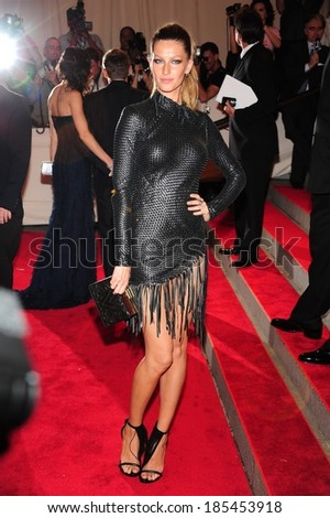Gisele Bundchen, in Alexander Wang, at Part 2-American Woman Fashioning a National Identity Benefit Gala Co-Hosted by GAP for the Costume Institute-The Metropolitan Museum of Art, NY May 3, 2010 - stock photo