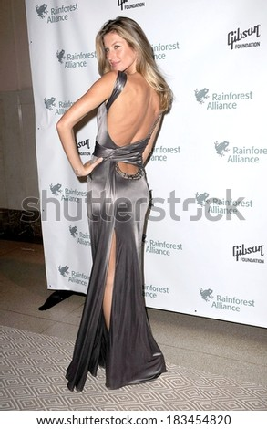 Gisele Bundchen , wearing a Versace gown,at The 2009 Rainforest Alliance Gala, American Museum of Natural History, New York City, NY May 6, 2009 - stock photo