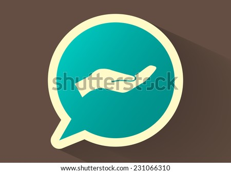 give alms, web icon. - stock photo