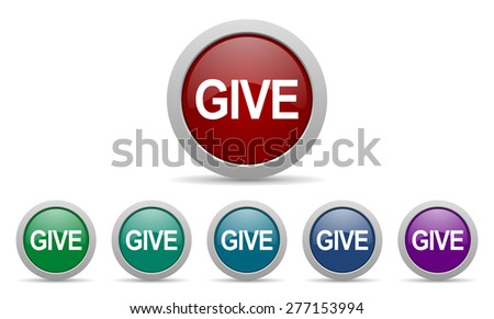 give icon   - stock photo