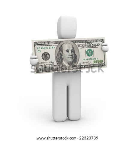 Give me the money! - stock photo