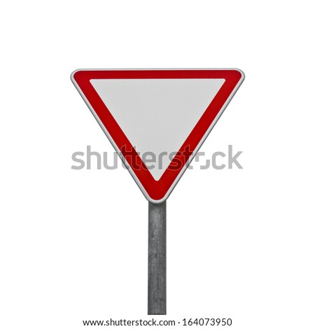 Give way road sign - stock photo