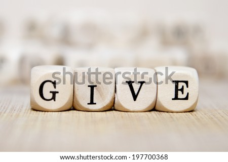 give word concept - stock photo