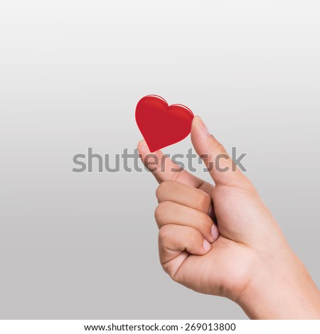 Give your heart to girl friend. - stock photo