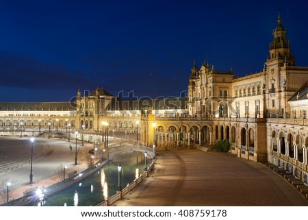 Given Spain's Square, located in Parque Maria Luisa, was the venue for the Latin American Exhibition of 1929, Seville, Andalucia, Spain. - stock photo
