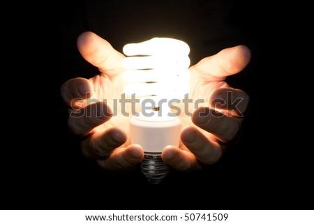 Giving Light - stock photo