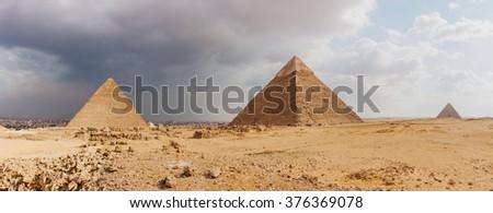 Giza pyramid complex - stock photo