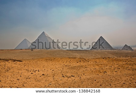 Giza tableland overview, Cairo, Egypt