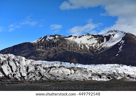 Glacier at Skaftafell, Vatnajokull National Park in Iceland