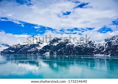 Glacier Bay in Mountains in Alaska, United States - stock photo