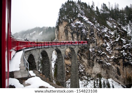 Glacier Express, switzerland - stock photo