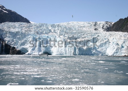 Glacier in Kenai Fiords National Park