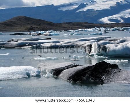 glacier lagoon - stock photo