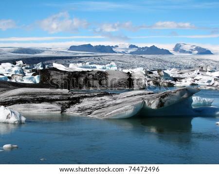 glacier lagoon in Iceland - stock photo
