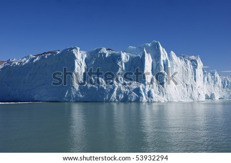 Glacier Moreno in Terra del Fuego Argentina - stock photo