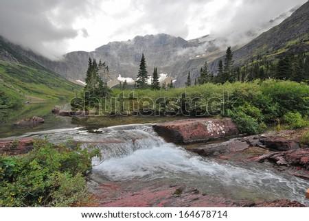Glacier National Park in Montana - stock photo