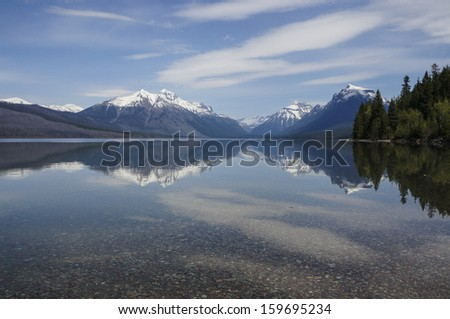Glacier national park Mcdonald lake,Montana,USA - stock photo