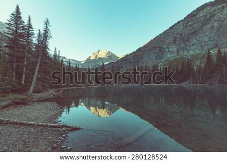 Glacier National Park, Montana. - stock photo