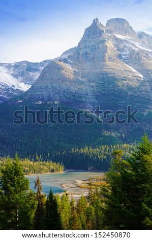 Glacier National Park, Montana, United States - stock photo