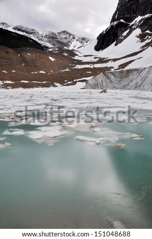 Glacier of Mount Edith Cavell, Jasper National Park (Canada)