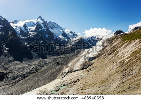 Glacier Pasterze, Austria, Grossglockner high mountain road