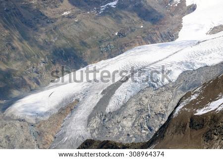 Glacier Unterer Theodulgletscher - Switzerland - stock photo