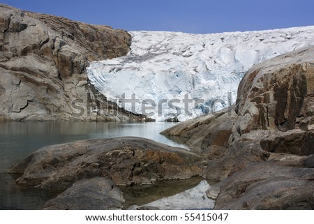 Glaciers and icebergs of Greenland 4 - stock photo