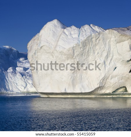 Glaciers and icebergs of Greenland 8 - stock photo